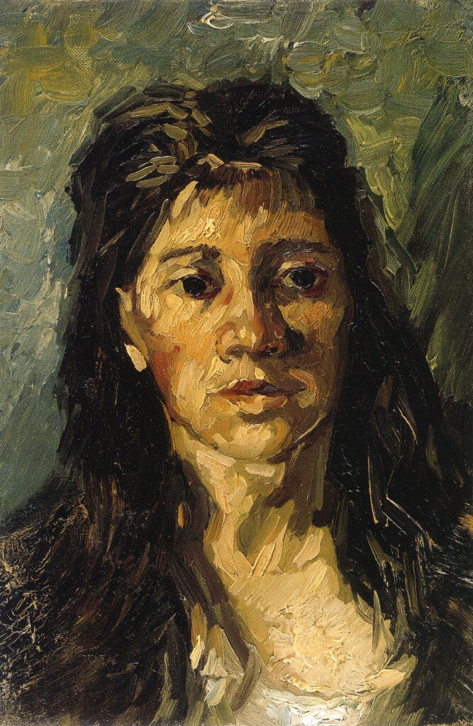 Head of a Woman with her Hair Loose 1885