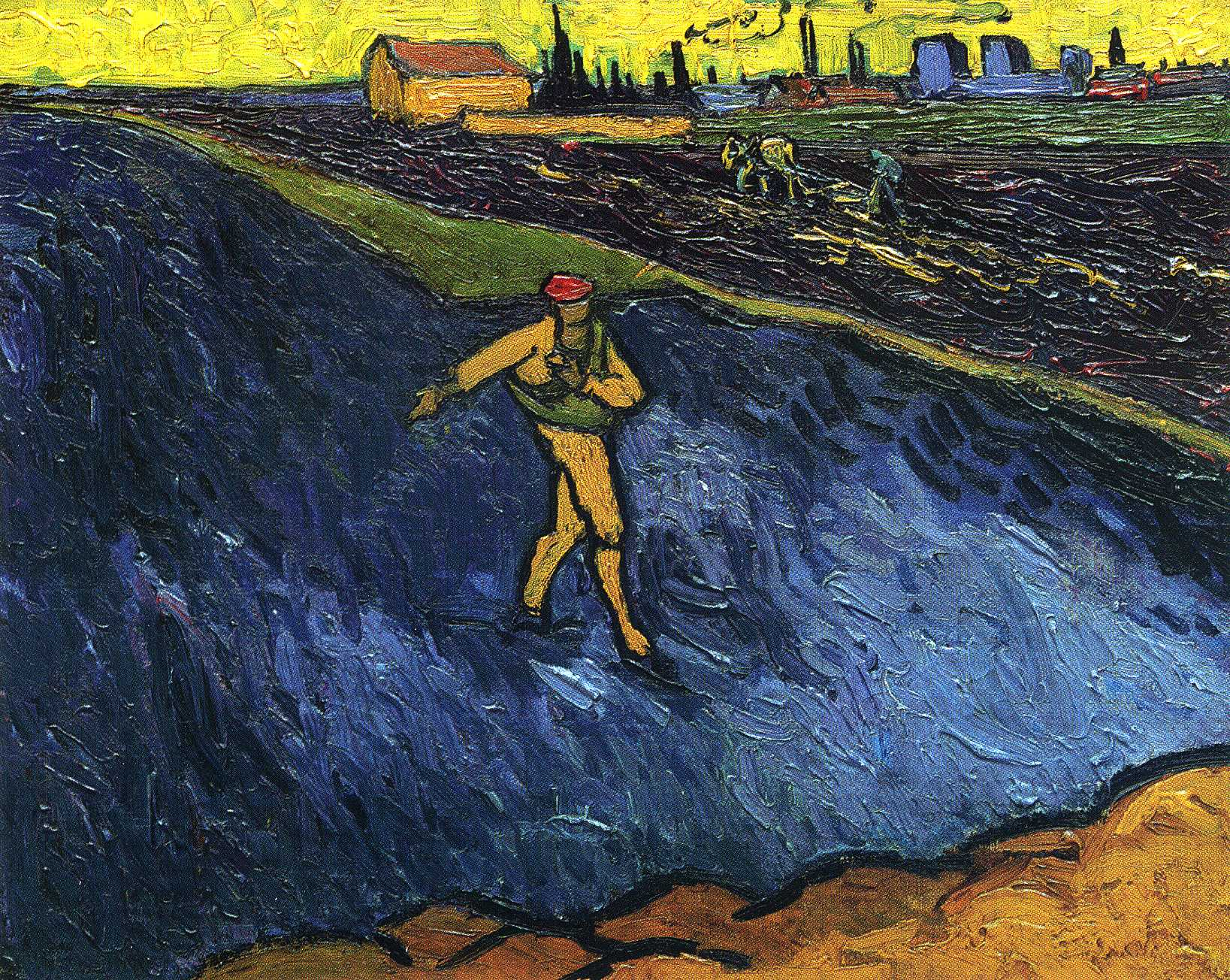The Sower: Outskirts of Arles in the Background 1888