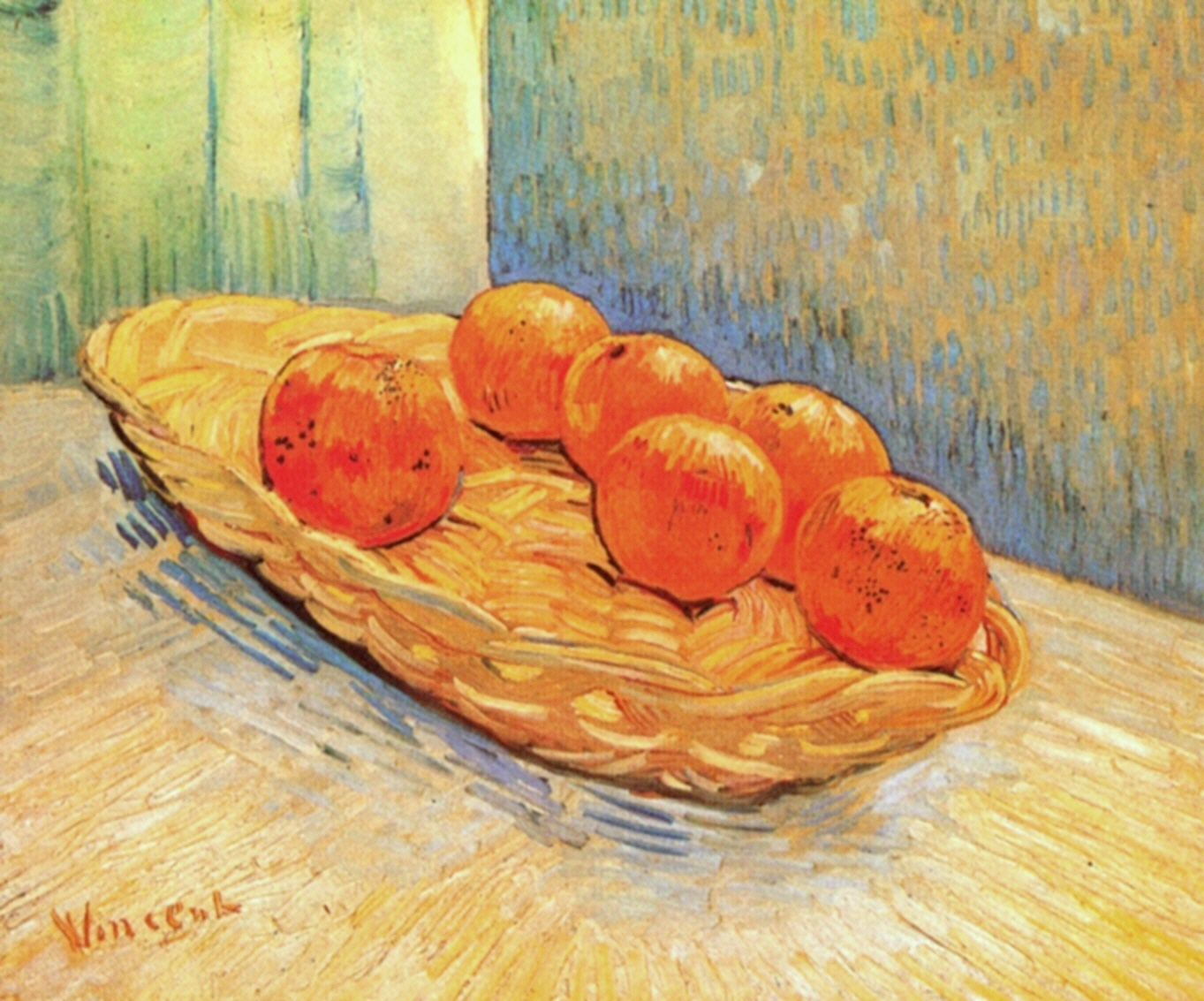 Still Life with Basket and Six Oranges 1888