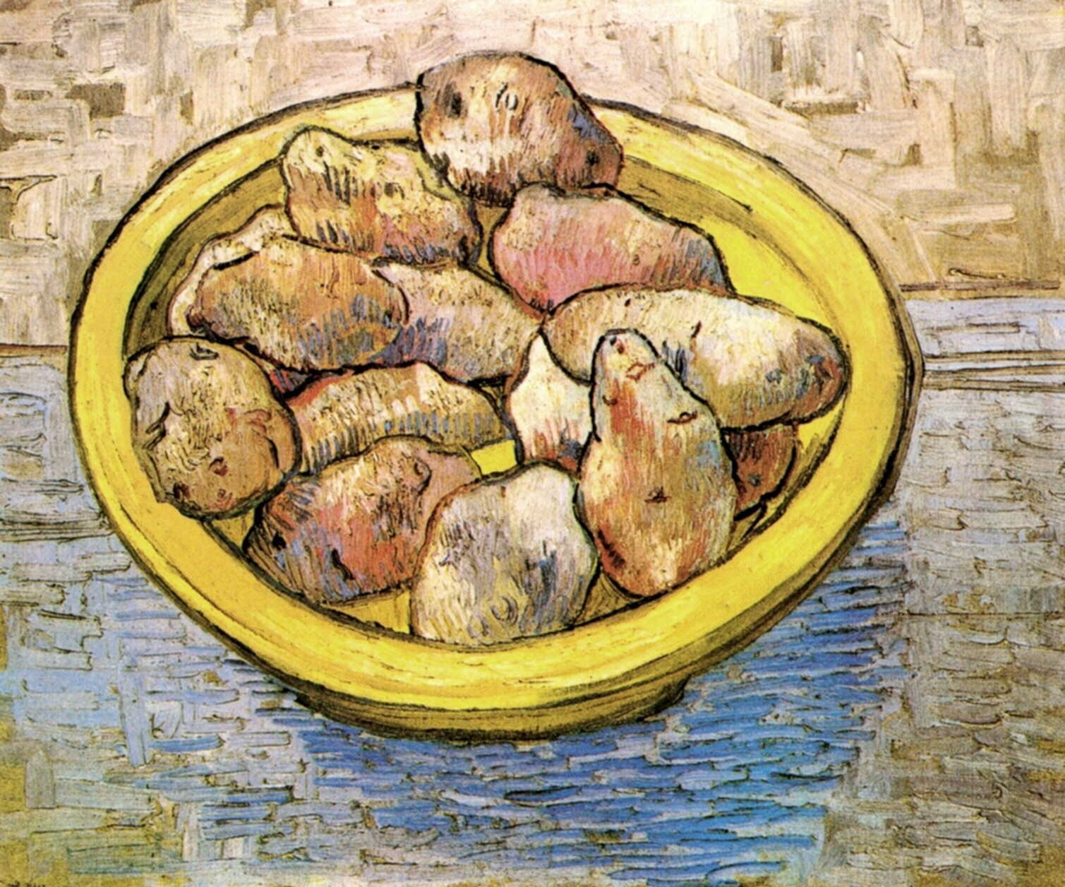 Still Life Potatoes in a Yellow Dish 1888