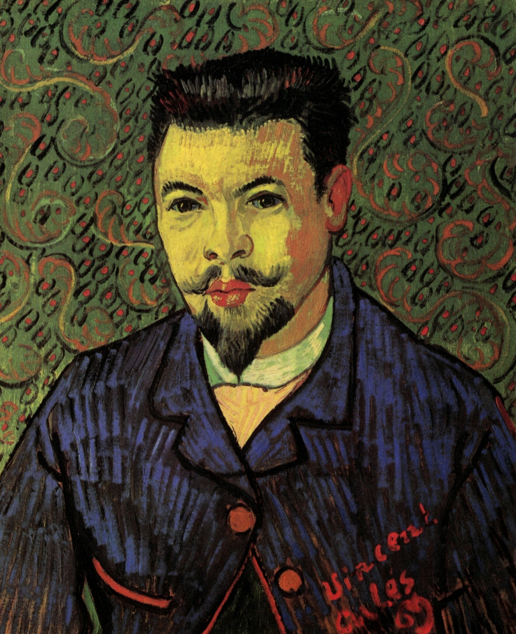 a depiction and analysis of portrait of doctor gachet by van gogh The portrait of doctor gachet is one of van gogh's most famous paintings it's notable for a number of reasons it's notable for a number of reasons it was painted in the last few months of vincent's life and the subject has been the focus of a great deal of controversy.