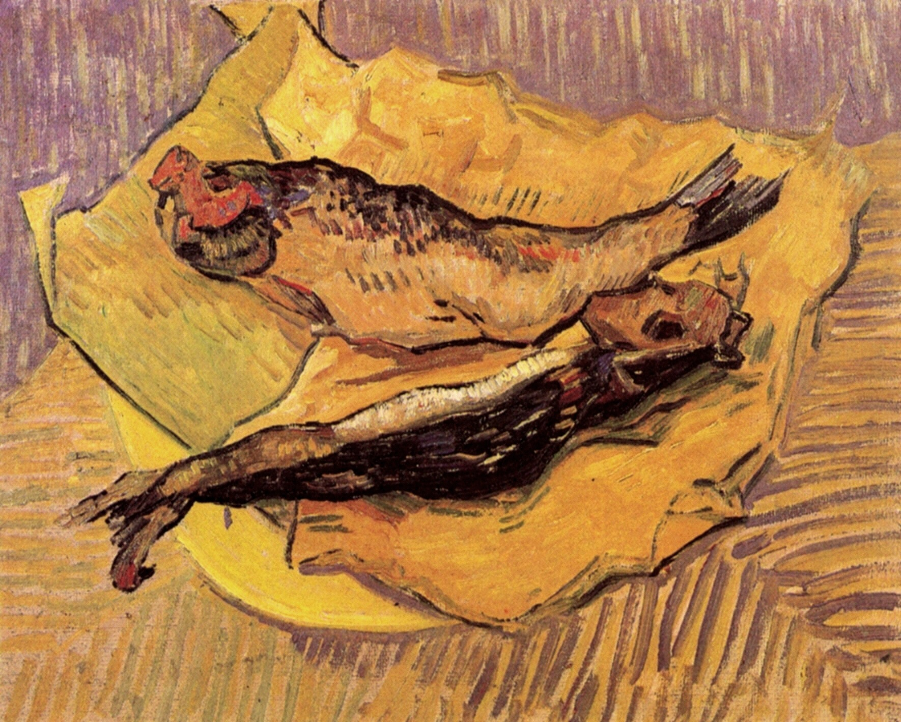 Still Life: Bloaters on a Piece of Yellow Paper 1889