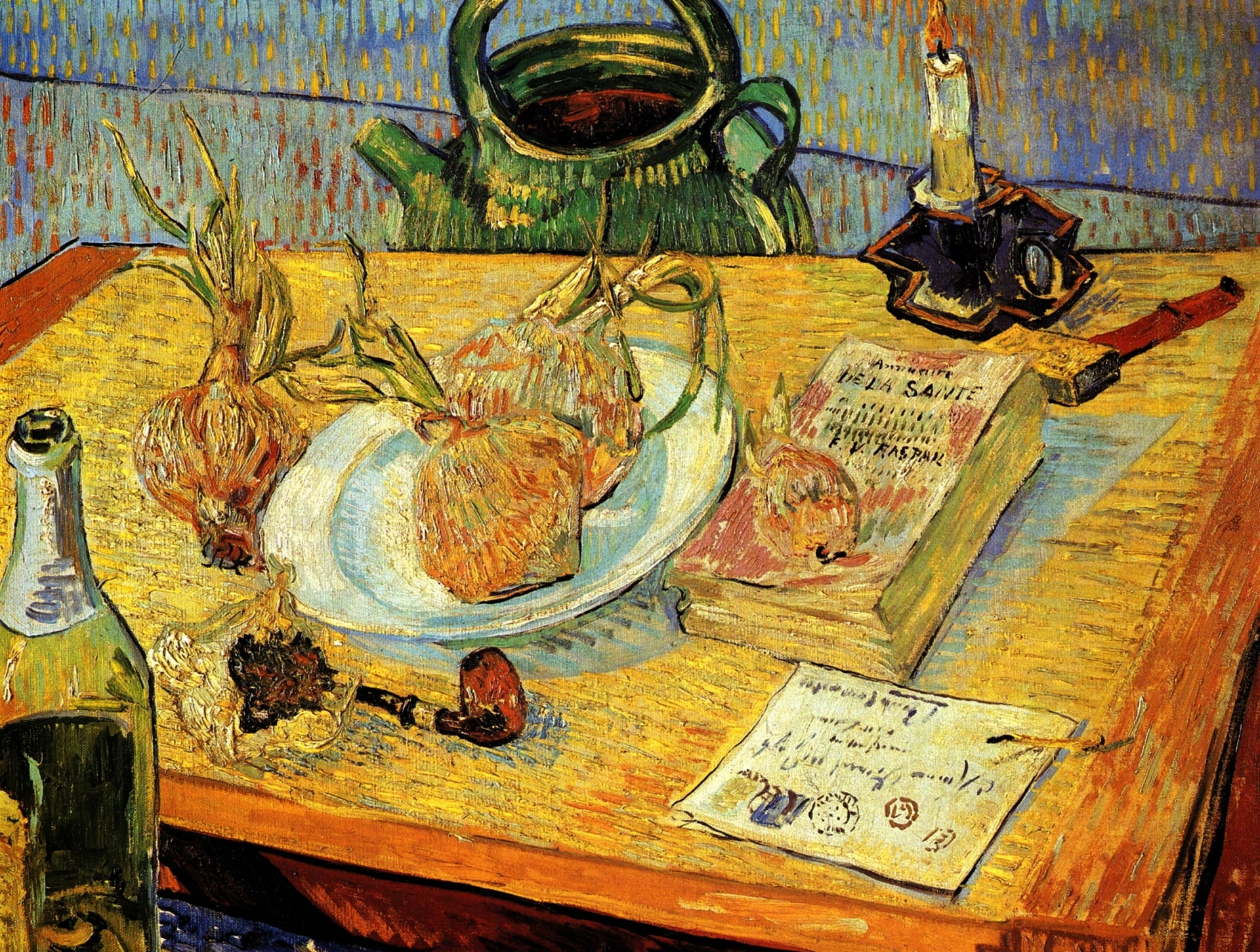 Still Life: Drawing Board, Pipe, Onions and Sealing-Wax 1889