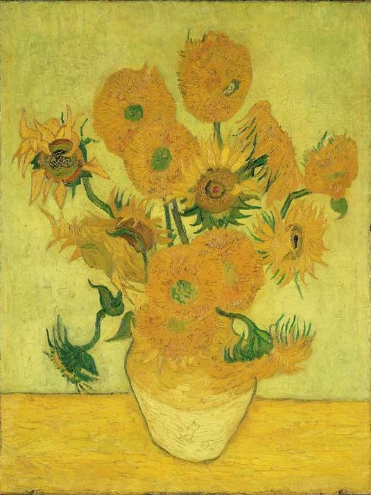 Still Life: Vase with Fifteen Sunflowers 1889