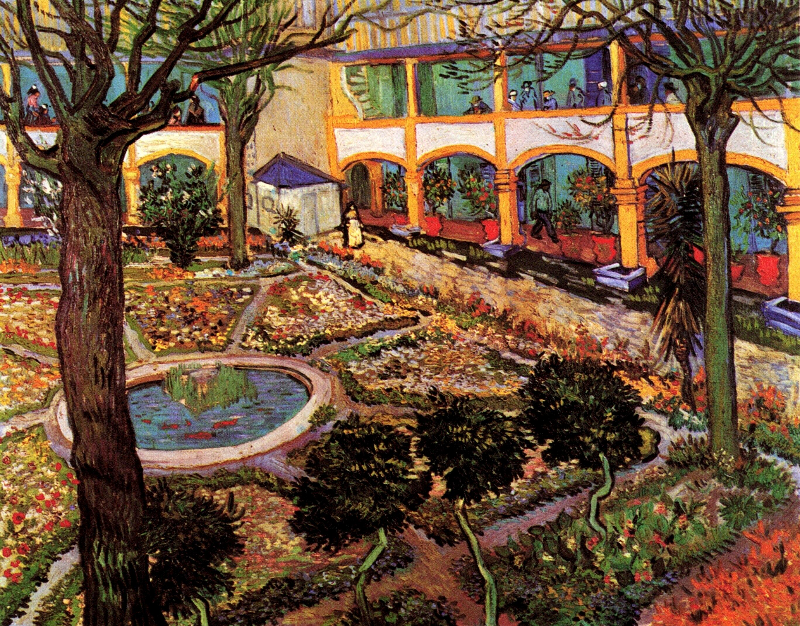 Van Gogh The Courtyard Of The Hospital At Arles 1889 With Description Art Vangogh Com,The Animals House Of The Rising Sun Chords Guitar