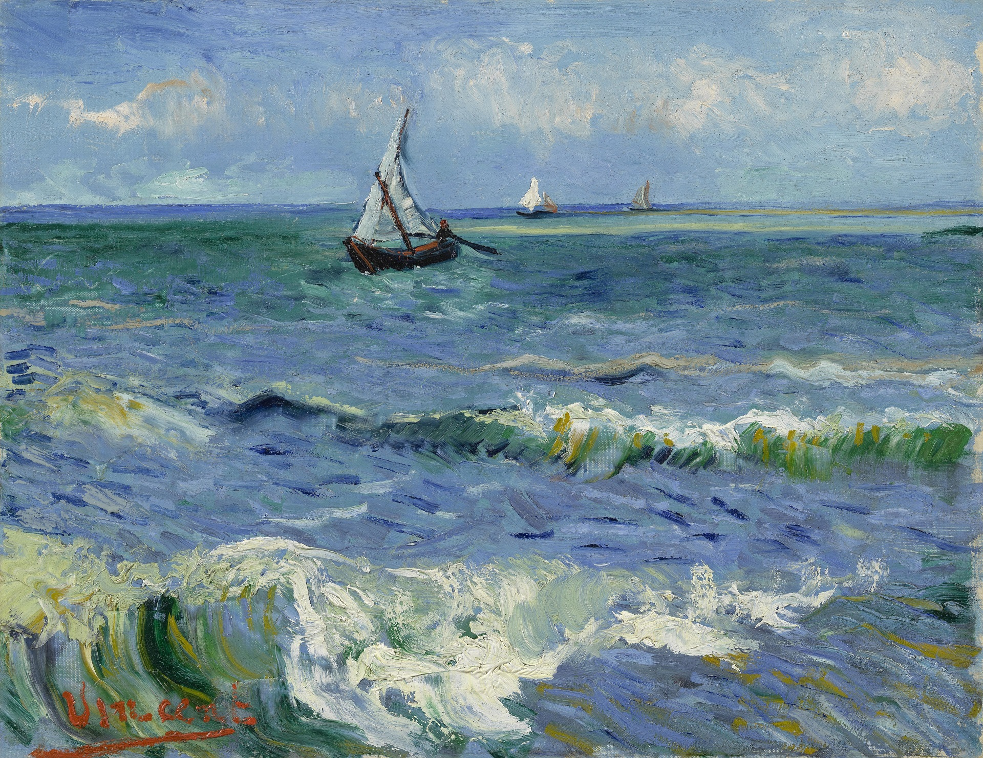 Seascape at Saintes-Maries 1888