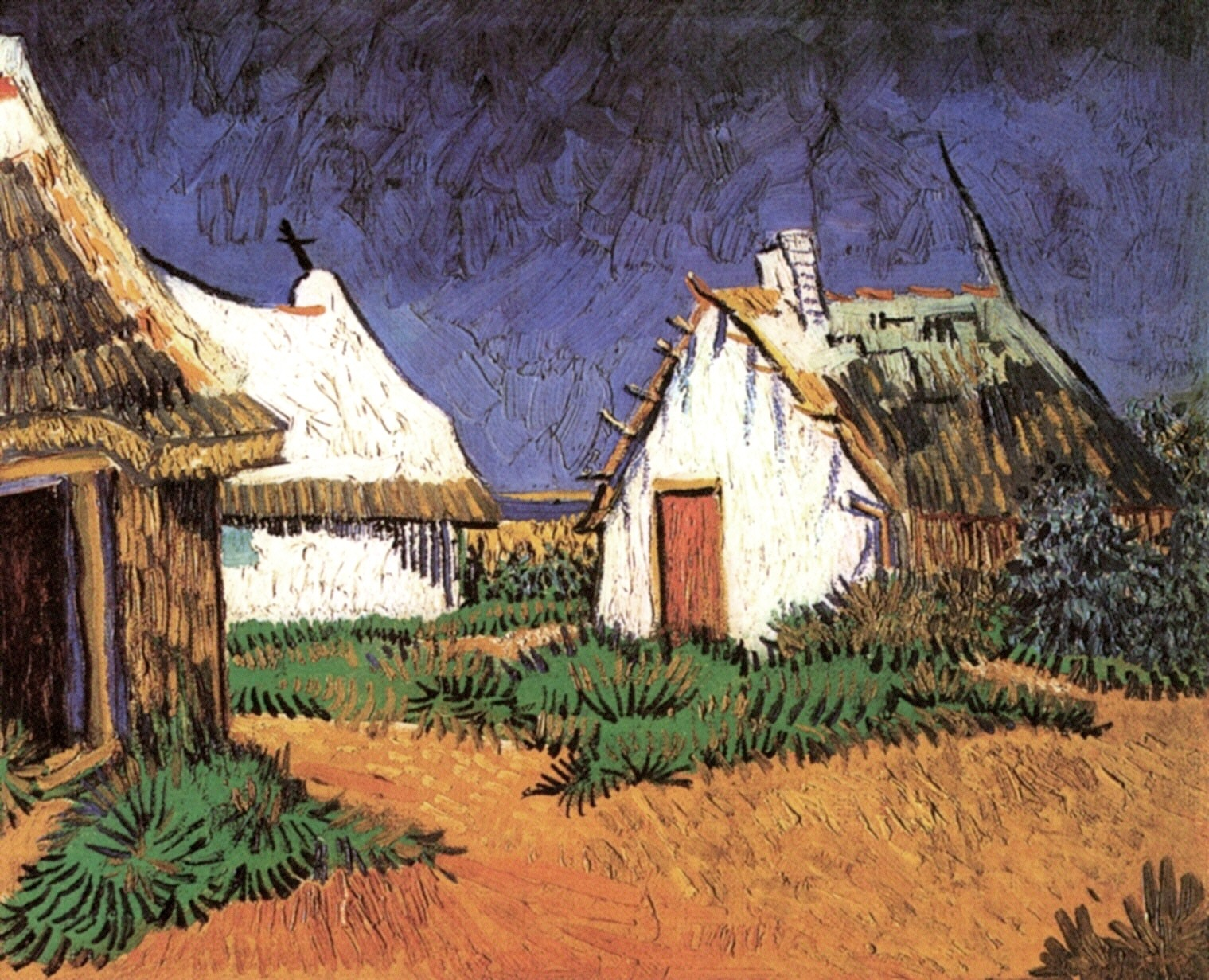 Three White Cottages in Saintes-Maries 1888