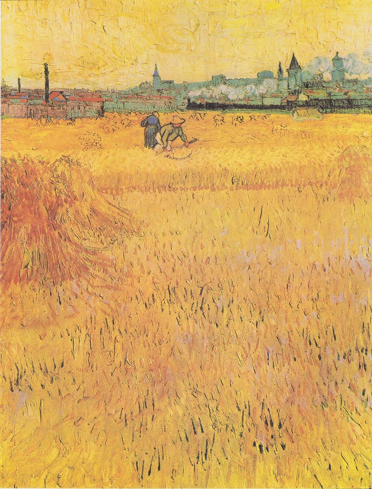 Arles: View from the Wheat Fields 1888