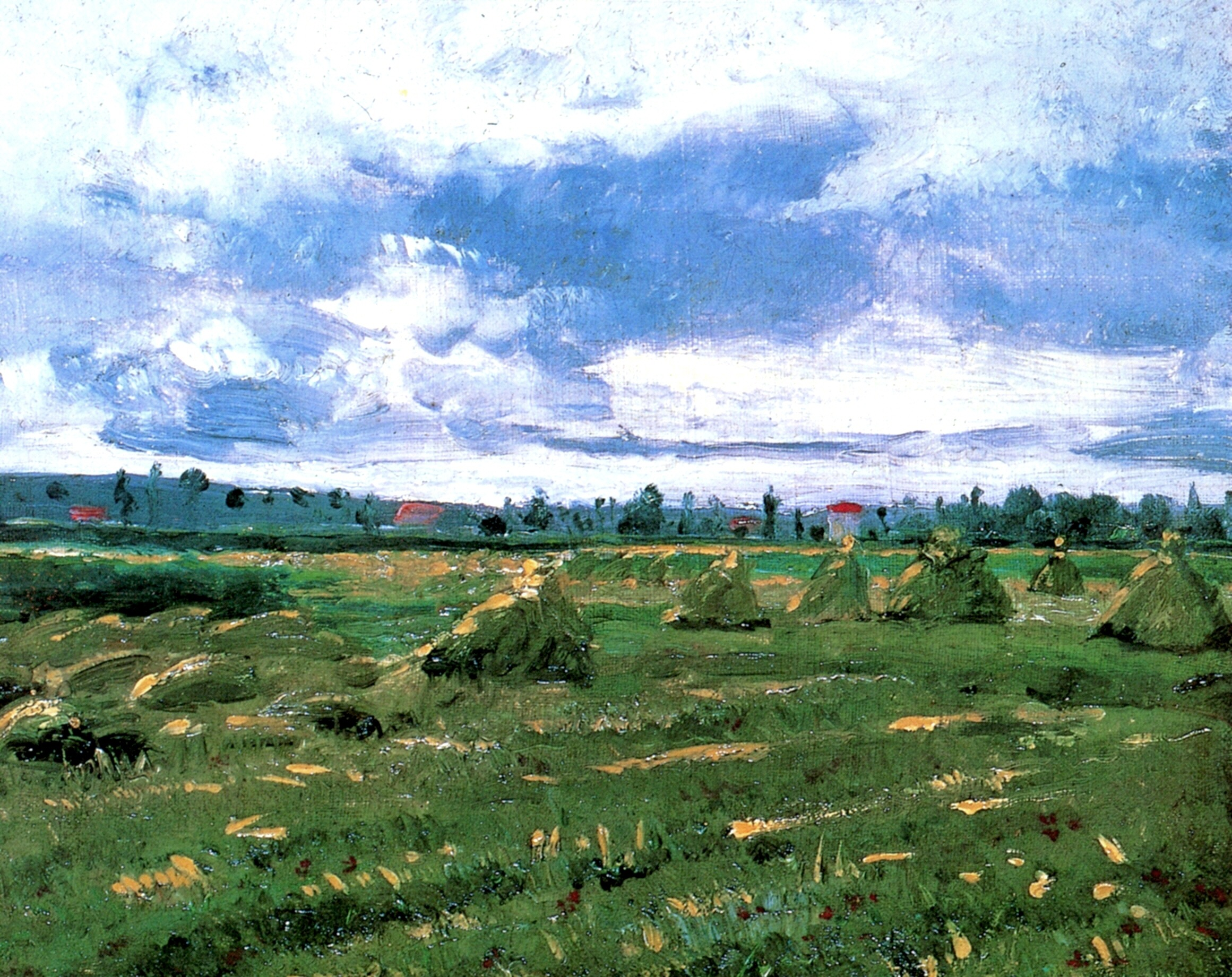 Wheat Fields with Stacks 1888