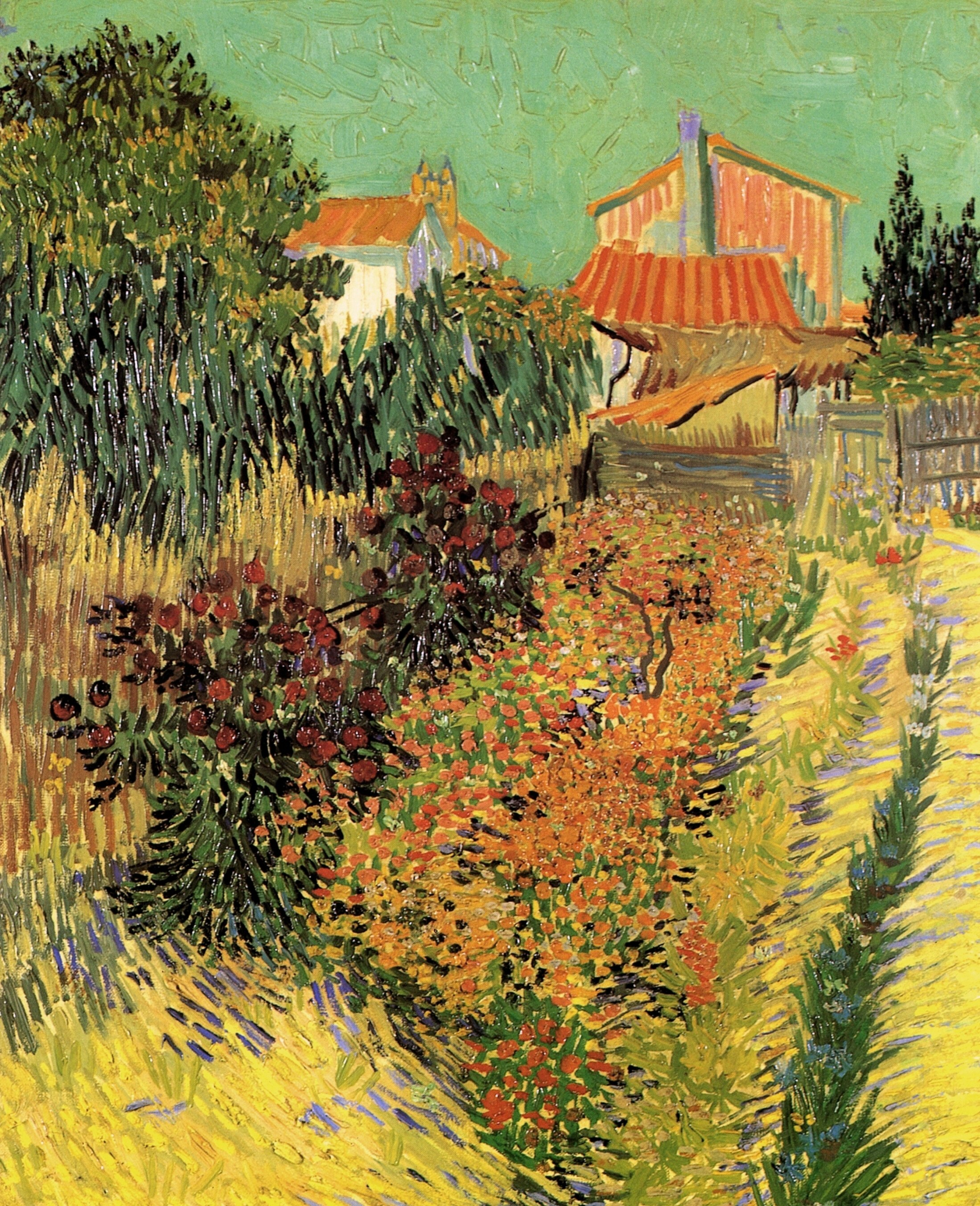Vincent van Gogh - Garden Behind a House 1888 - art-vanGogh.com