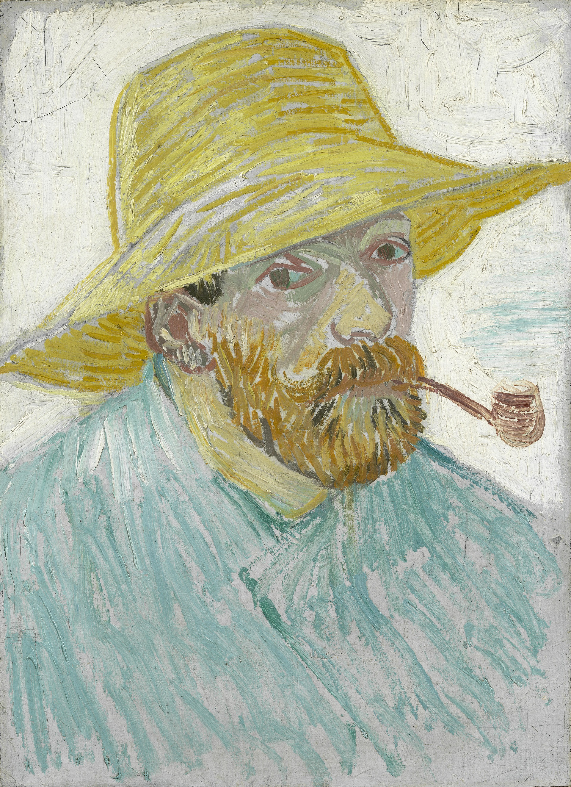 Self-Portrait with Pipe and Straw Hat 1888