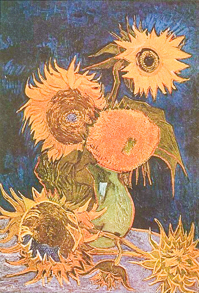 Vincent Van Gogh All Sunflowers The Earlier Series Executed In