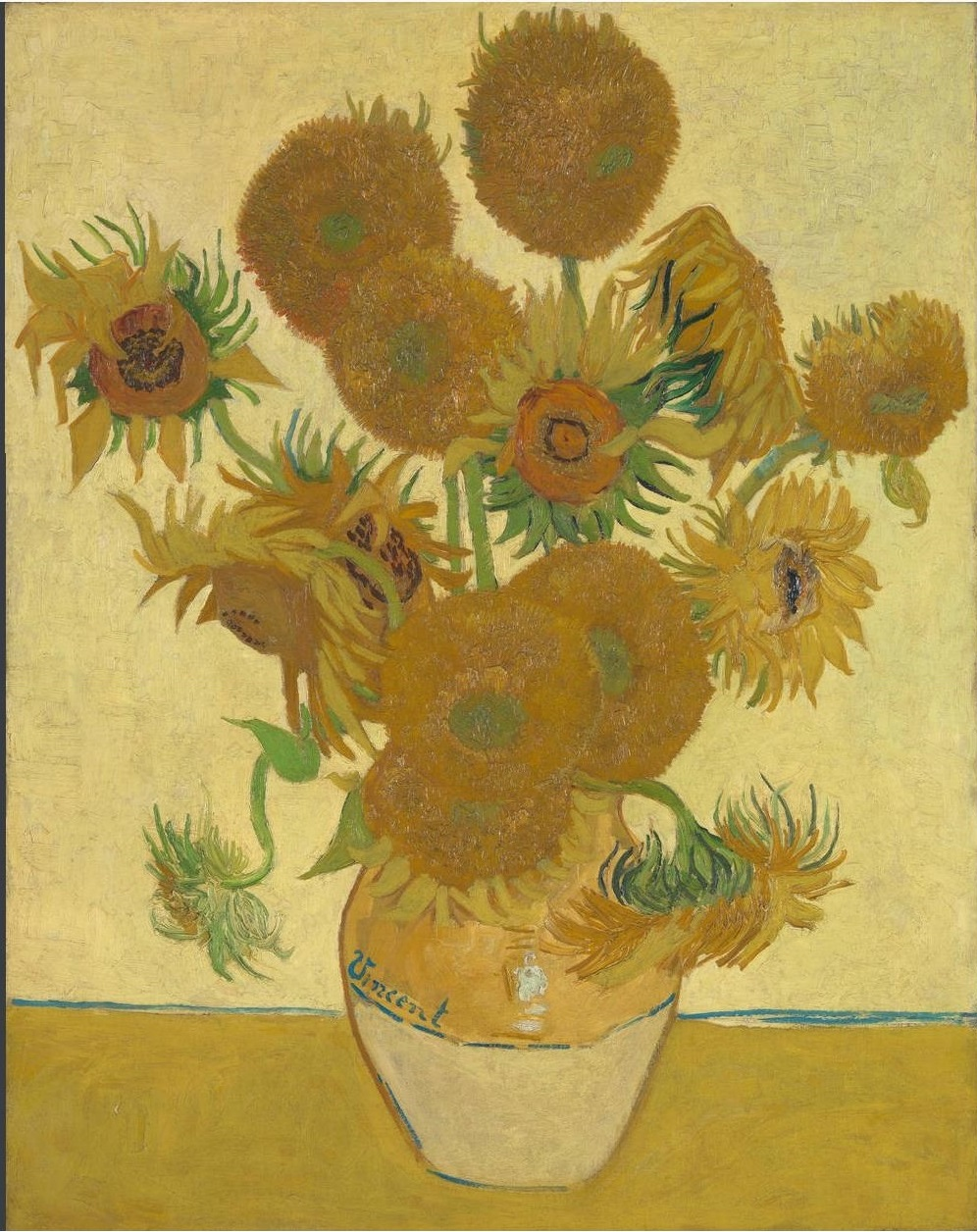 Still Life: Vase with Fifteen Sunflowers 1888