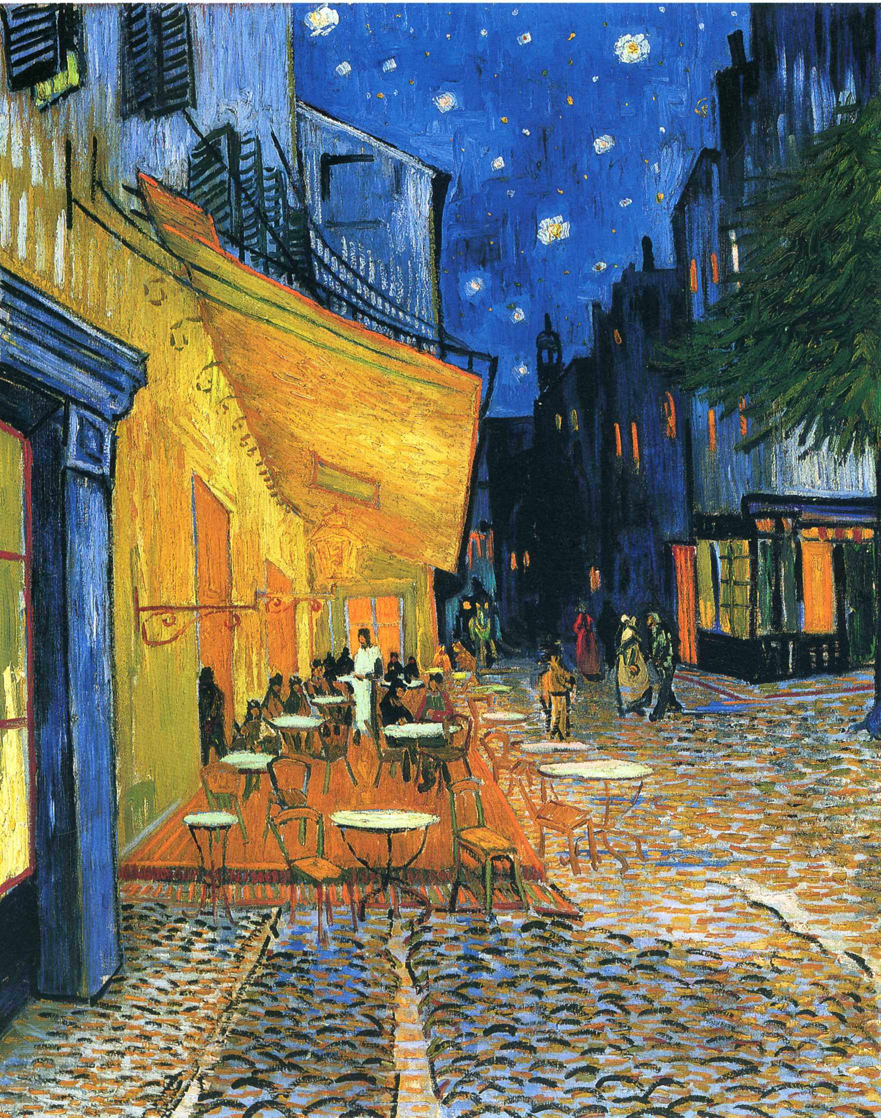 The Cafe Terrace on the Place du Forum, Arles, at Night 1888
