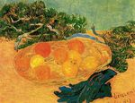 Still Life with Oranges, Lemons and Blue Gloves