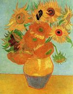 Life Vase with Twelve Sunflowers