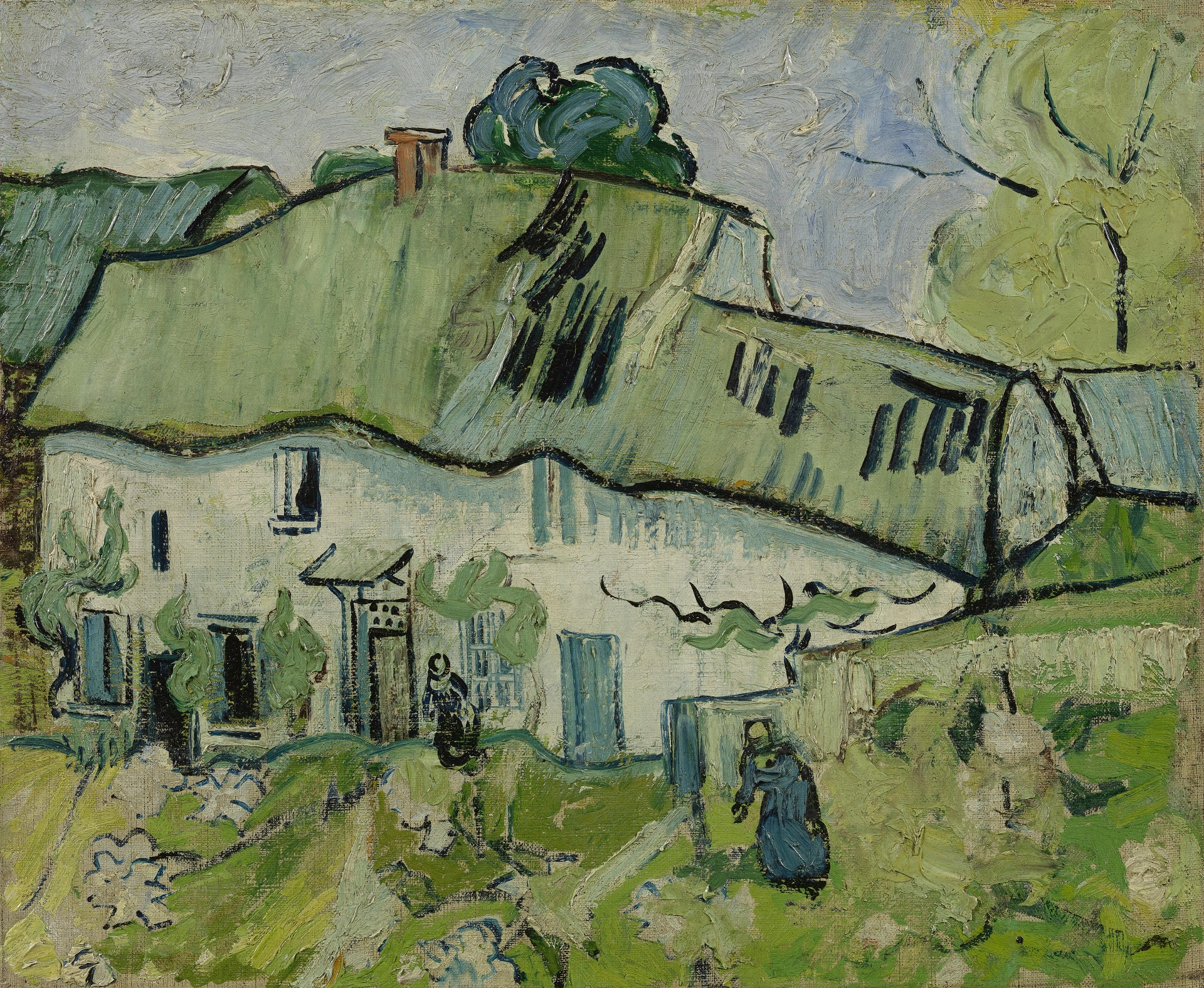 Farmhouse with Two Figures 1890