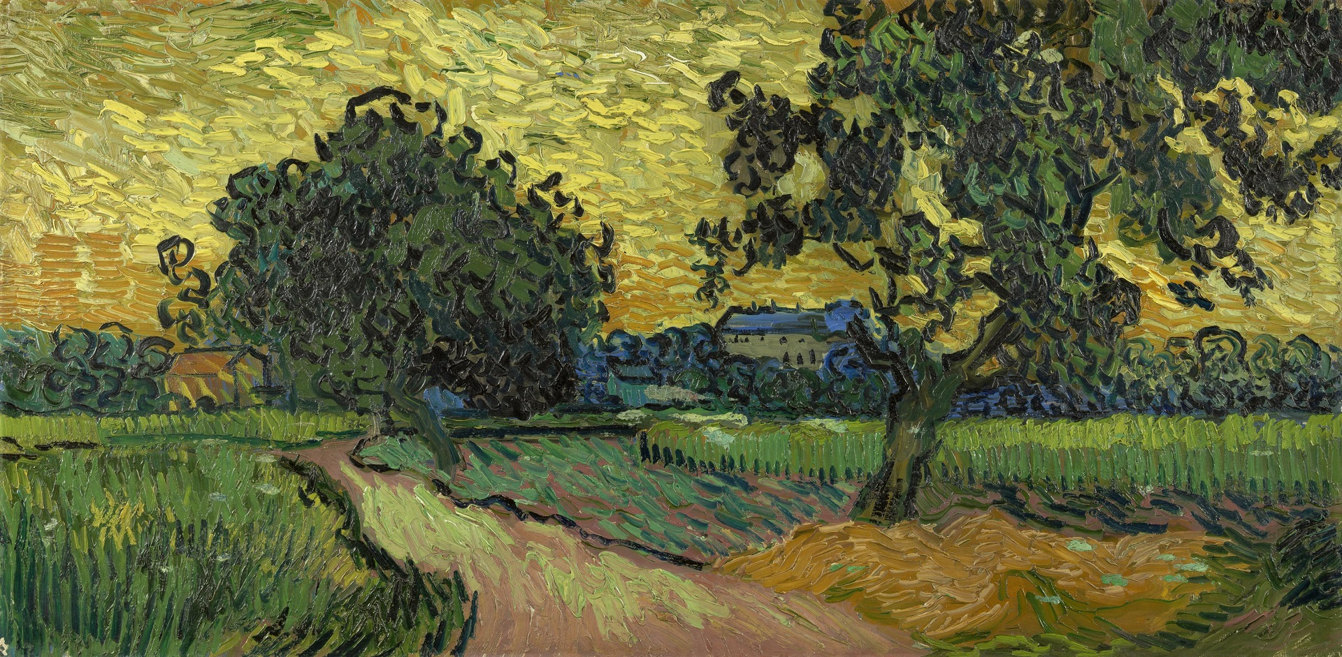 Landscape with the Chateau of Auvers at Sunset 1890