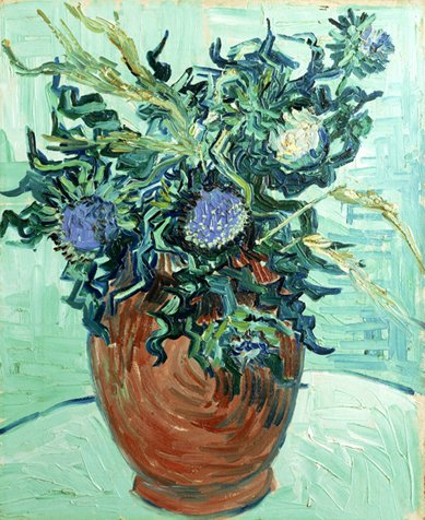 Still Life: Vase with Flower and Thistles 1890