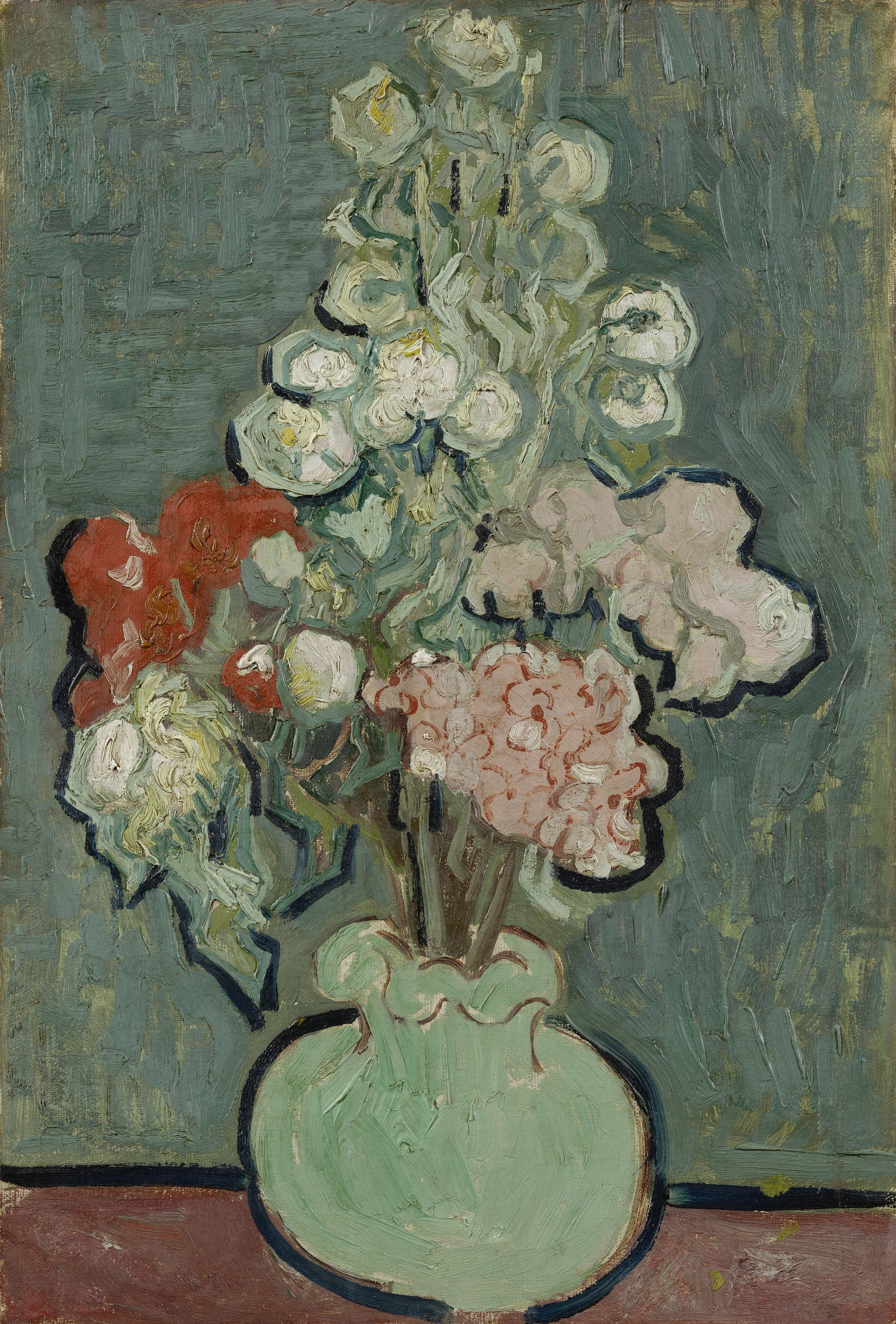 Still Life: Vase with Rose-Mallows 1890