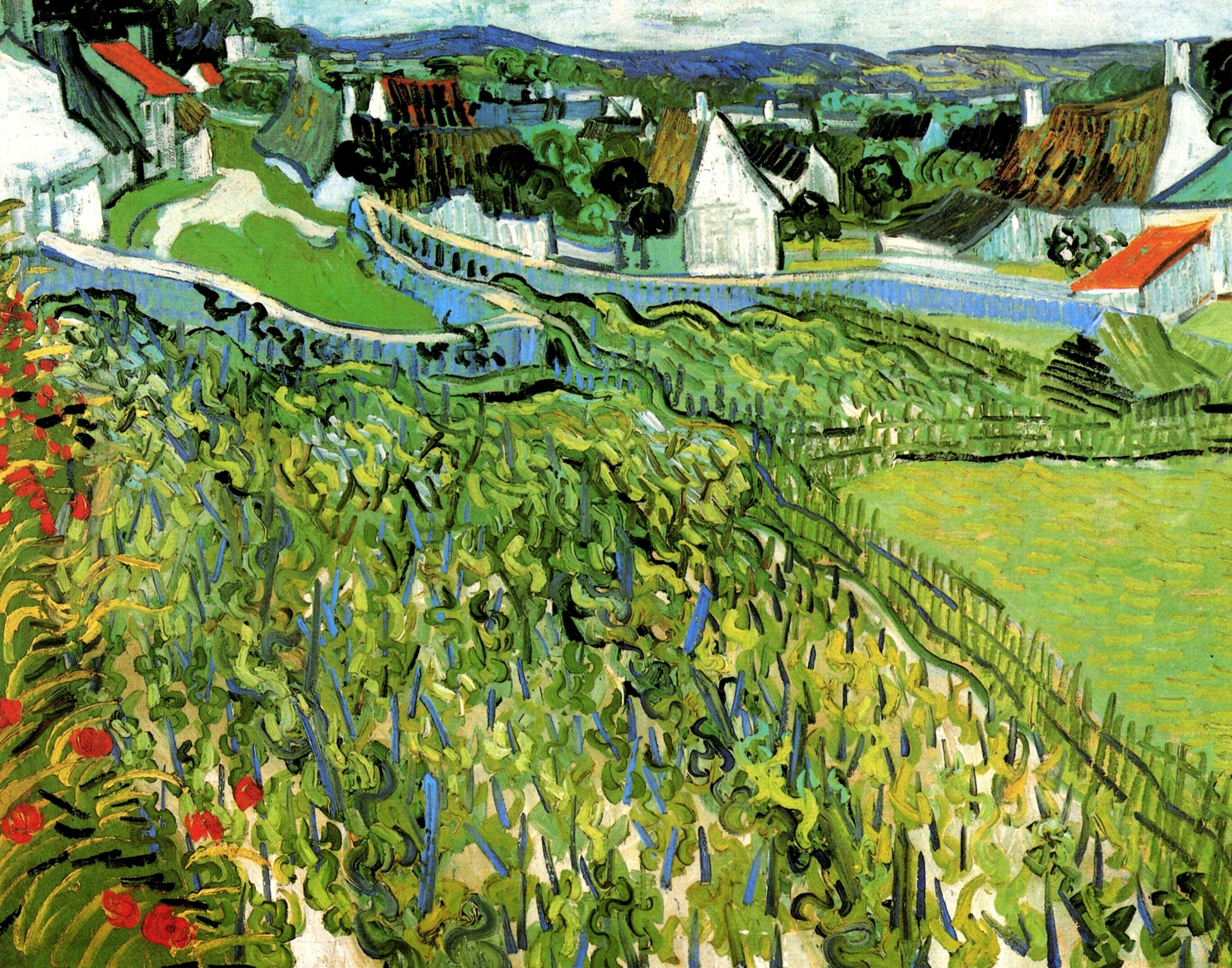 Vineyards with a View of Auvers 1890