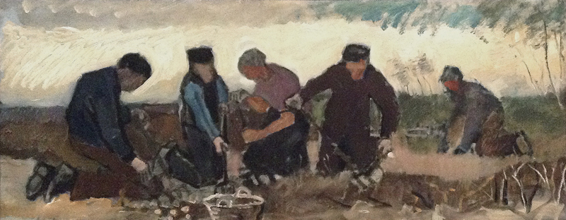 Potato Digging. Five Figures