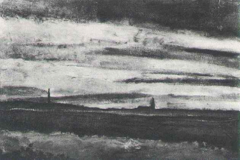 Landscape with a Church at Twilight 1883