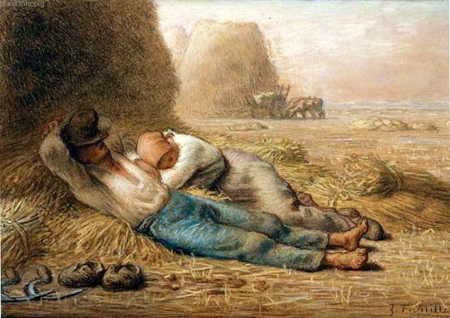 Noon Rest from Work  Jean-Francois Millet