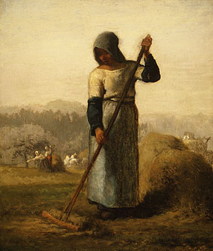 Peasant Woman with a Rake - Millet Jean-Francois 1856