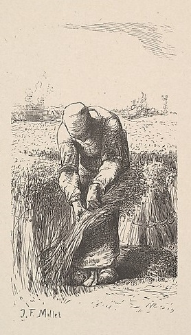 The Wheat Gatherer Jean-Francois Millet