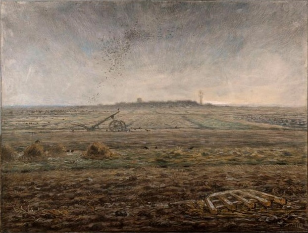Winter, The Plain of Chailly Jean-Francois Millet