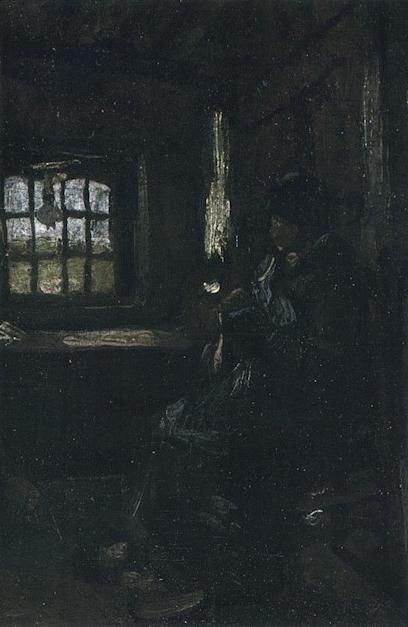 Peasant Woman Darning Stockings 1885