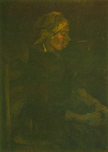 Peasant Woman, Seated, with White Cap 1885