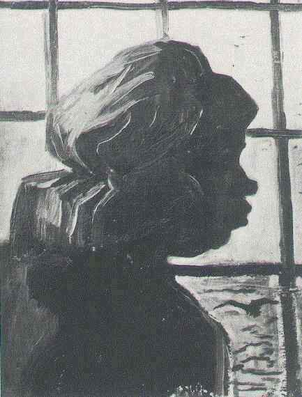 Peasant Woman, Seen against the Window 1885