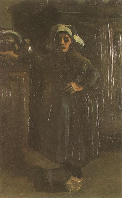 Peasant Woman Standing Indoors 1885
