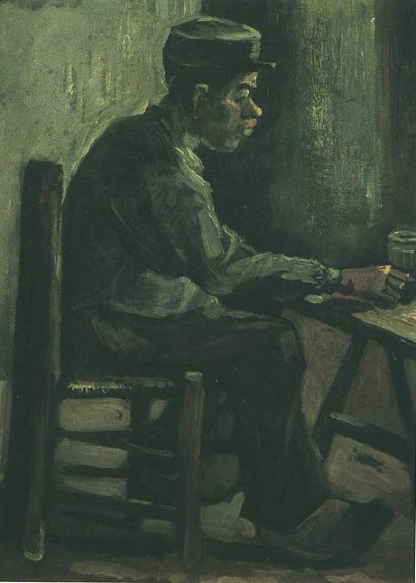 Peasant Sitting at a Table 1885