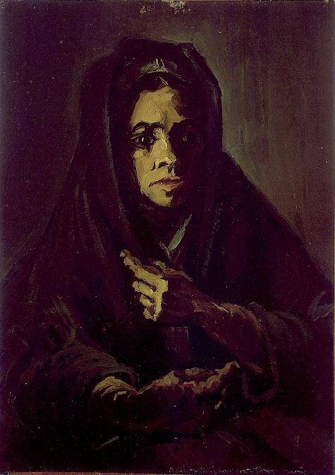 Woman with a Mourning Shawl 1885