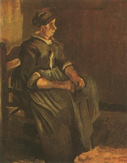 Peasant Woman Sitting on a Chair 1885