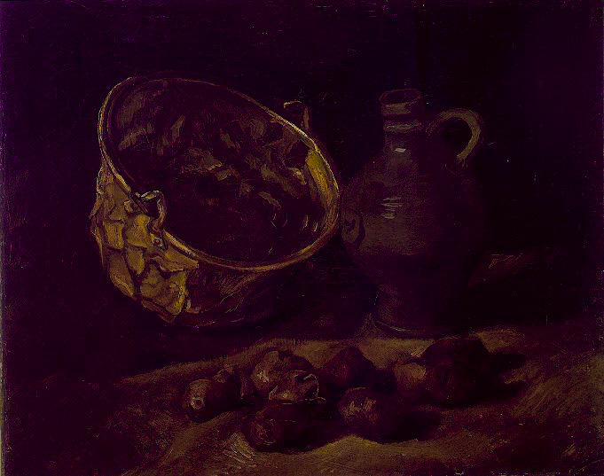 Still Life with Brass Cauldron and Jug 1885