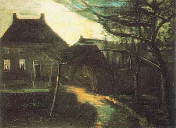 The Parsonage at Nuenen by Moonlight 1885