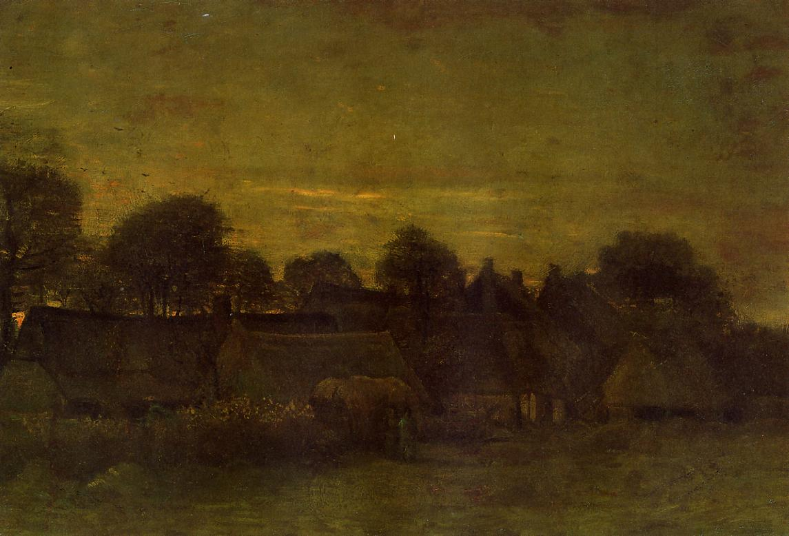 Village at Sunset 1884