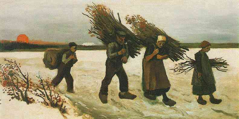 Wood Gatherers in the Snow 1884