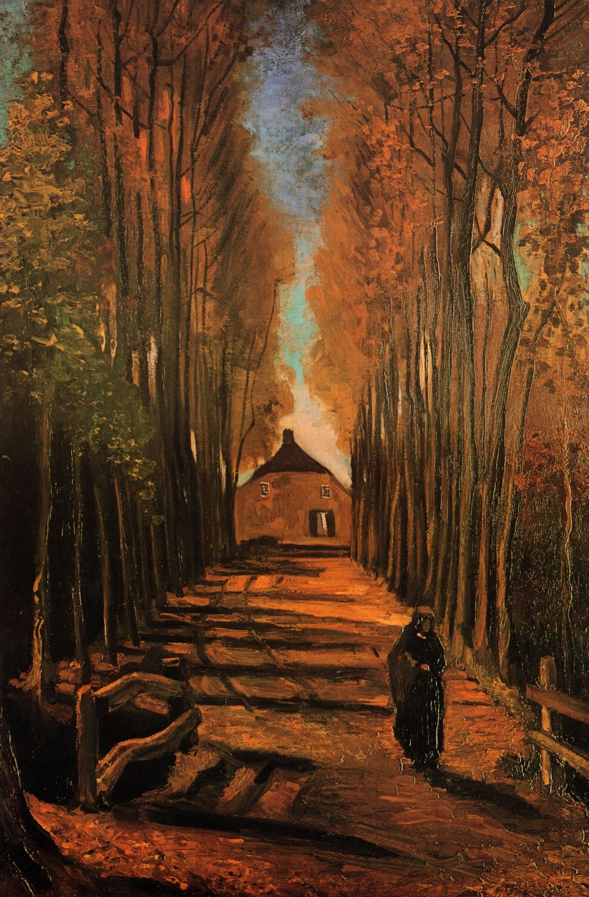 Avenue of Poplars in Autumn 1884