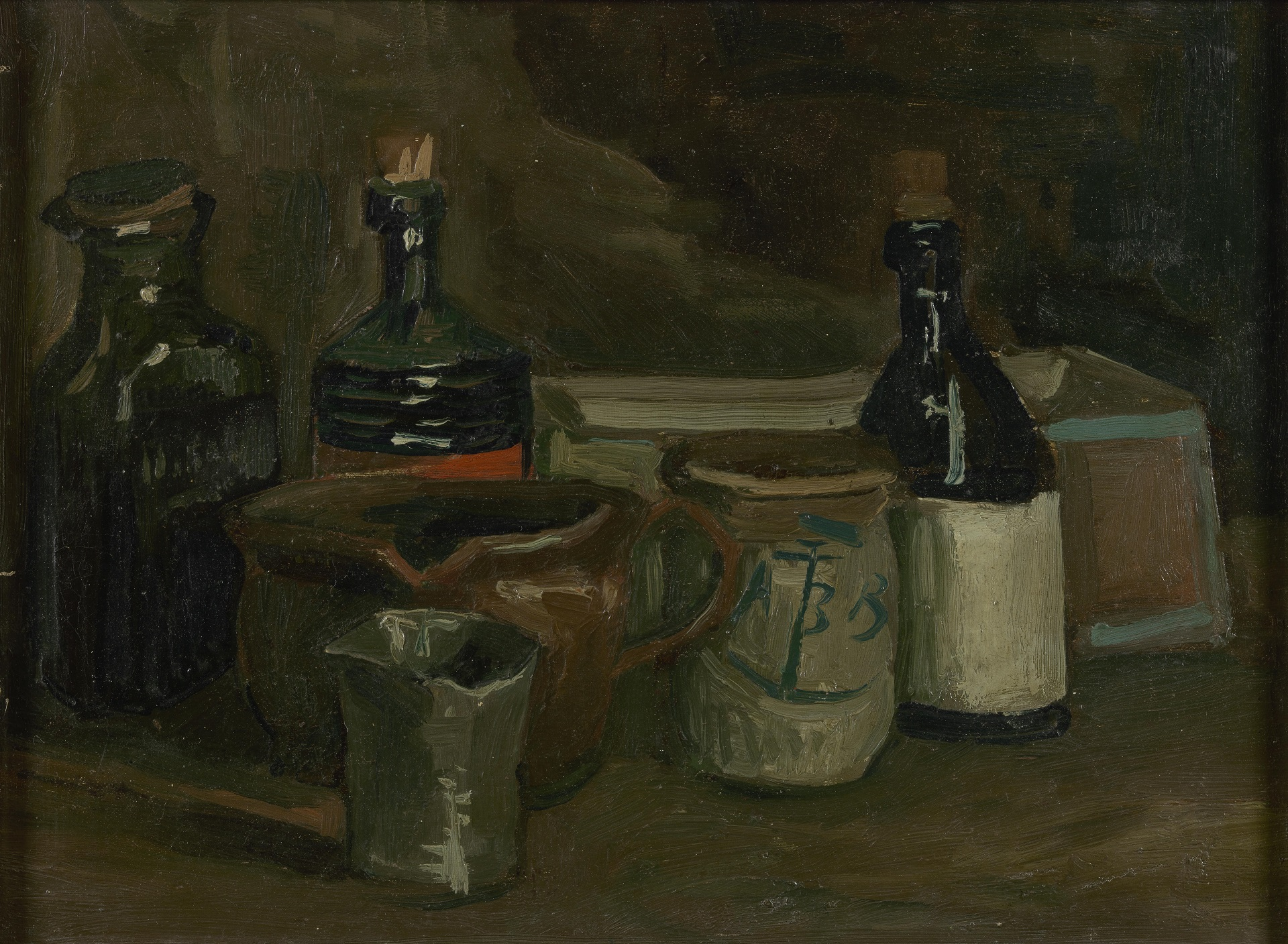 Still Life with Bottles and Earthenware 1884-1885