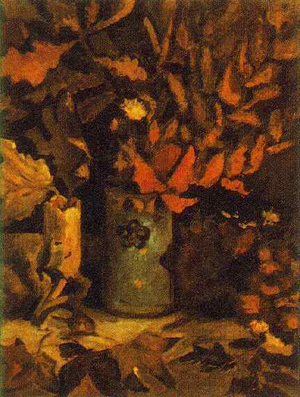 Vase with Dead Leaves 1884