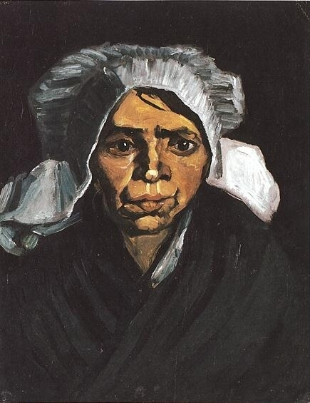 Head of a Peasant Woman with White Cap 1884