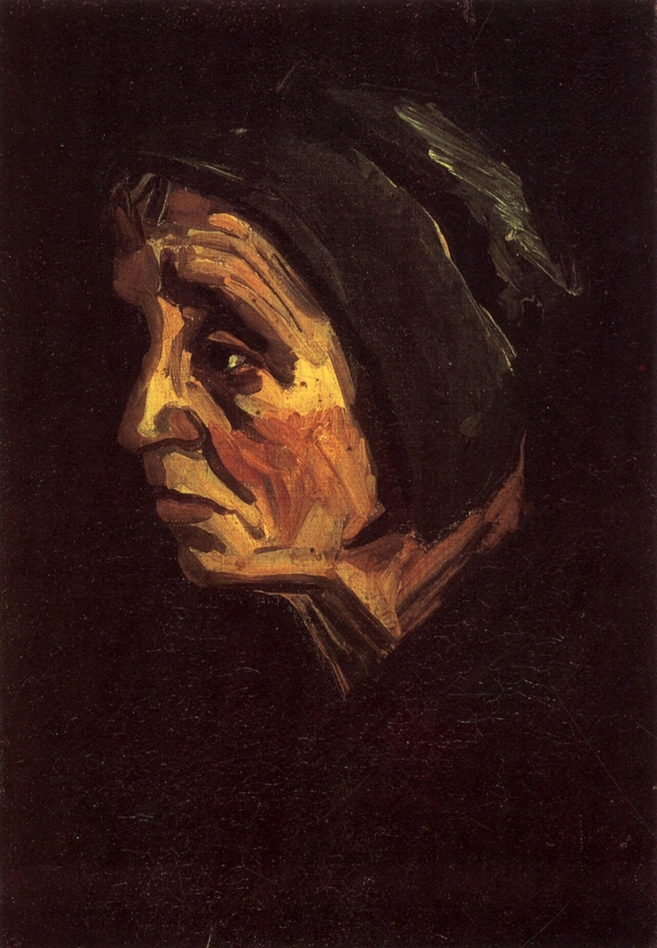 Head of a Peasant Woman with Dark Cap 1885