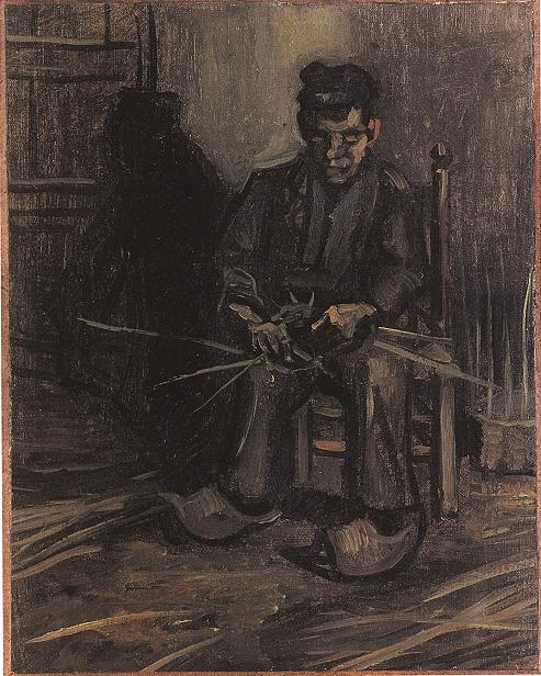 Peasant Making a Basket 1885