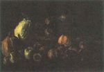 Still Life with a Basket of Apples and Two Pumpkins