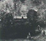 The Parsonage Garden at Nuenen with Pond and Figures